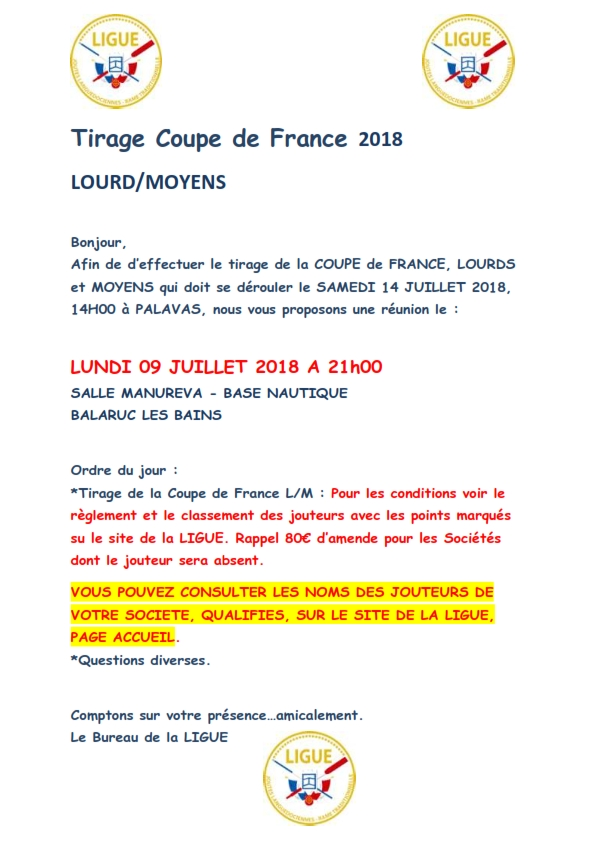 Tirage coupe de france 2018 001